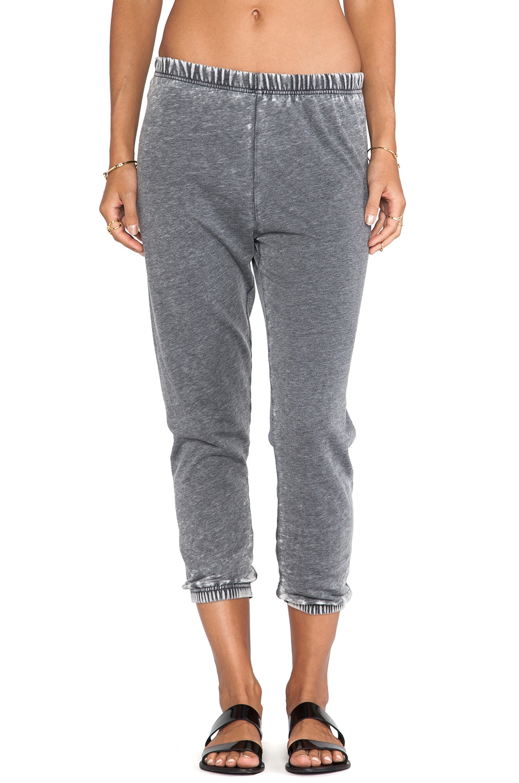 American Vintage Rexburg Jogging Pants in Carbon Melange