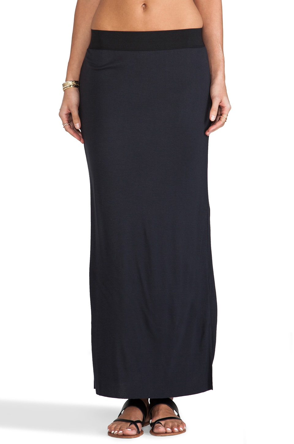 American Vintage Lily Bay Maxi Skirt in Carbon
