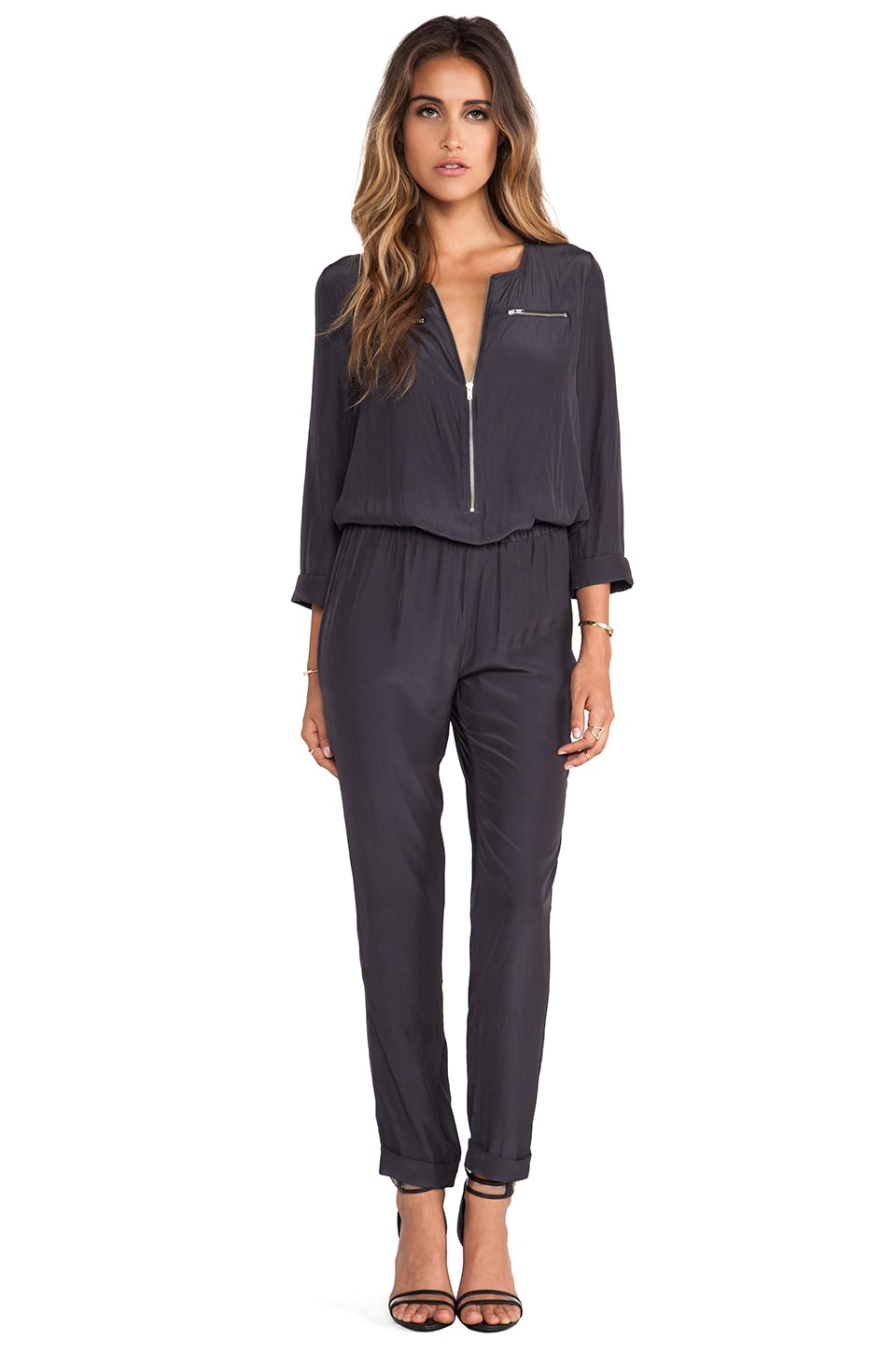 American Vintage Zachary Jumpsuit in Carbon