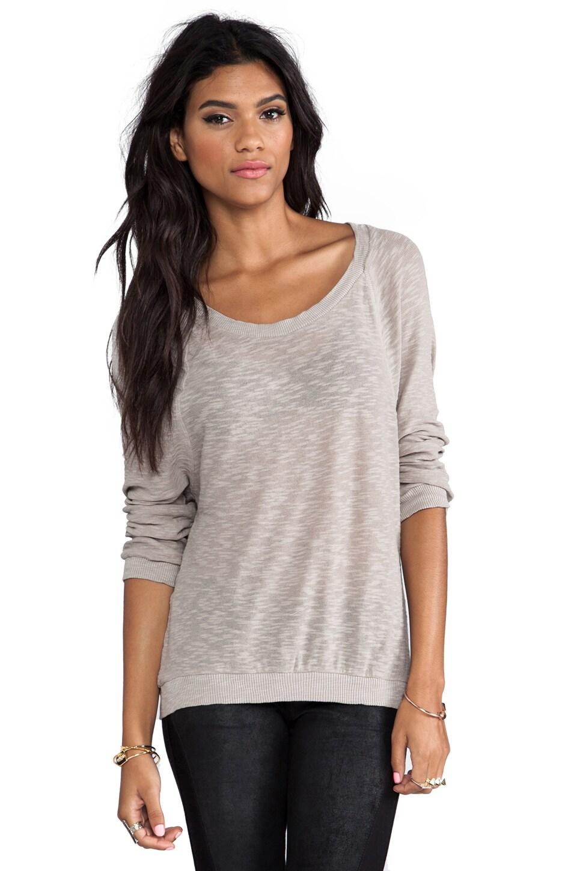 American Vintage Bakersfield Long Sleeve T-Shirt in Sandstone
