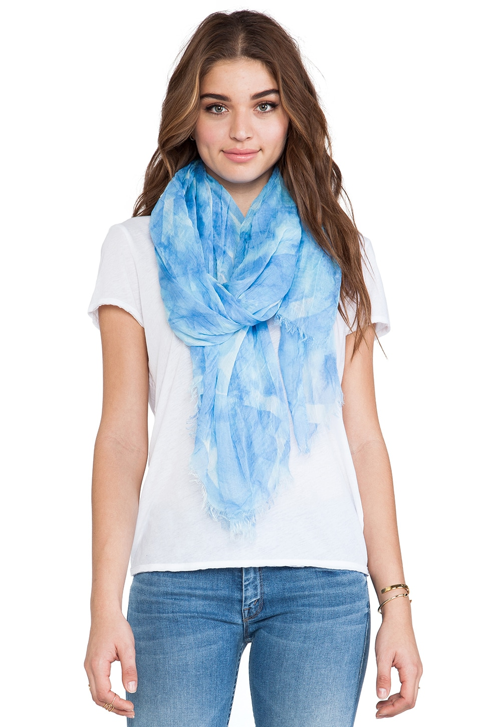 American Vintage Caldwell Scarf in Opal Water Color