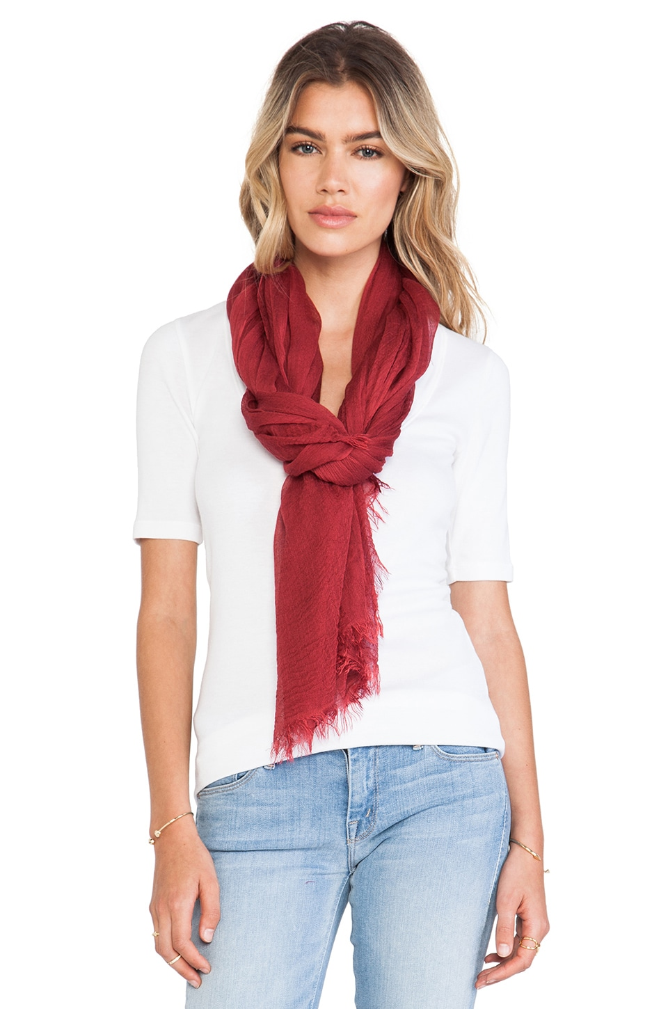 American Vintage Bloomington Scarf in Ruby