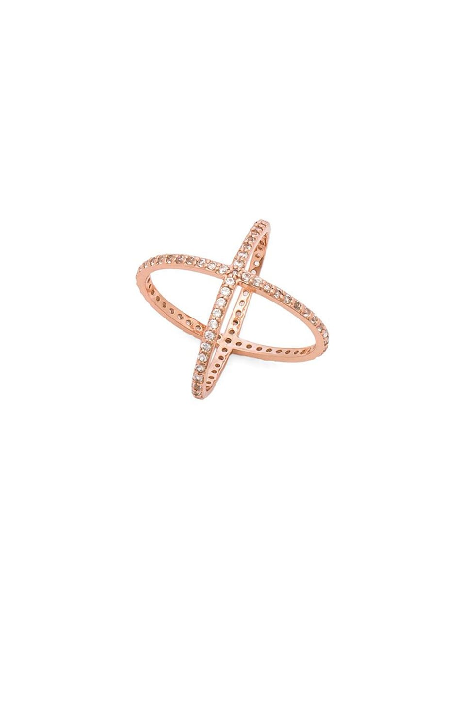 Alex Mika Criss Cross Ring in Rose Gold