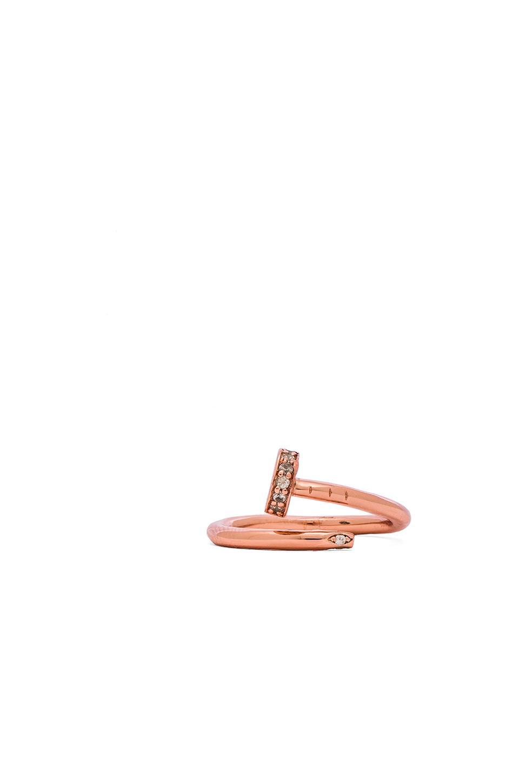 Alex Mika Screw Ring in Rose Gold