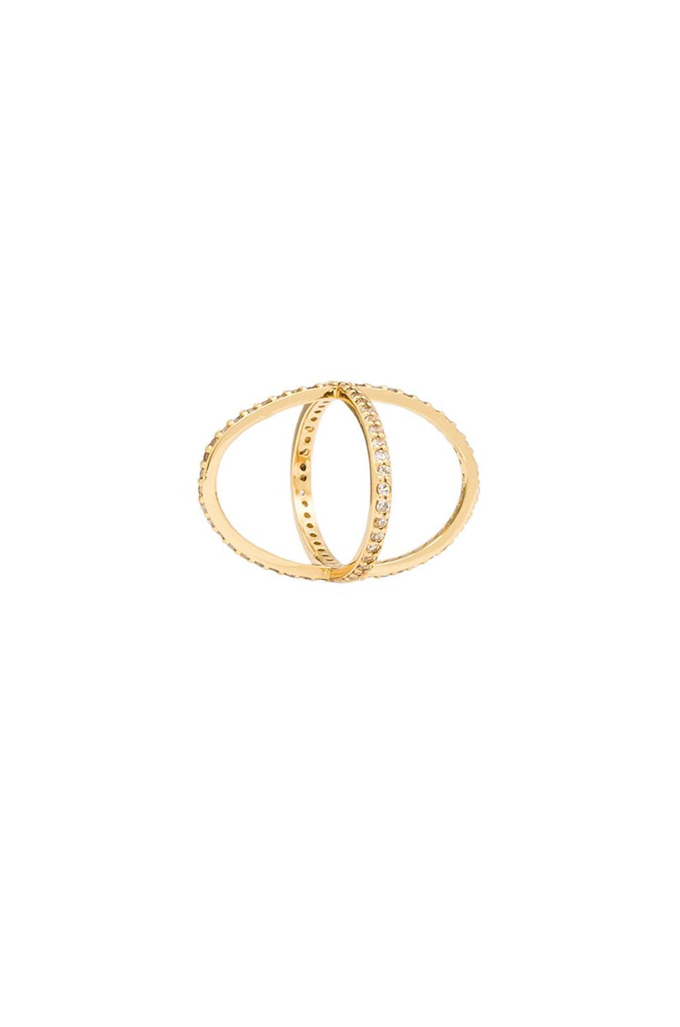 Alex Mika Criss Cross Ring in Gold