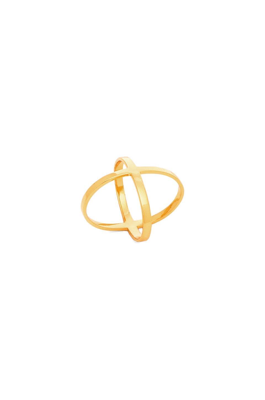 Alex Mika Criss Cross Ring in Gold
