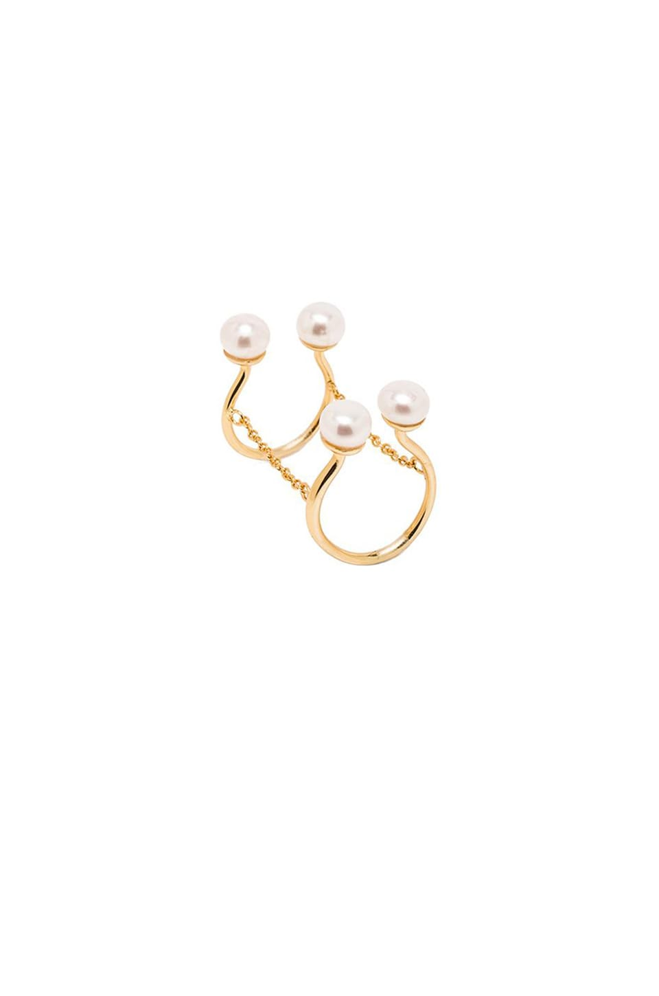 Alex Mika Quadru Pearl Ring in Gold