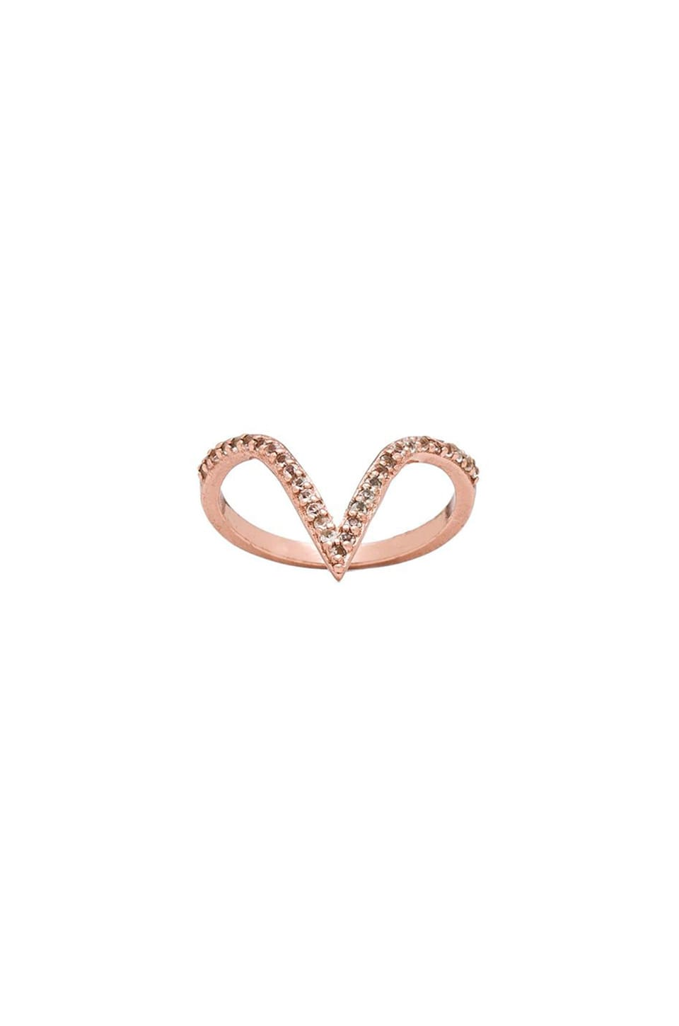 Alex Mika V Ring in Rose Gold