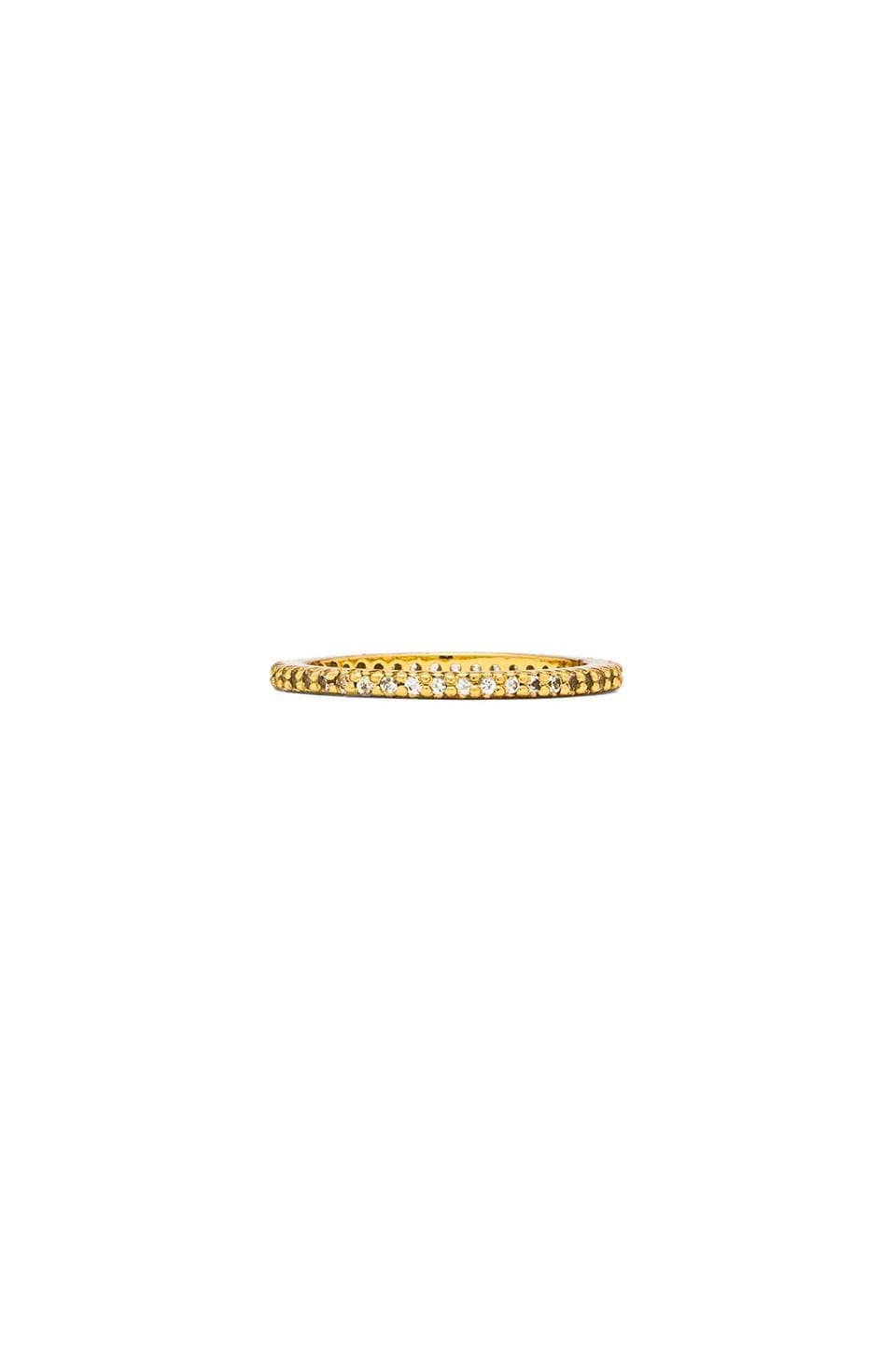 Alex Mika Single Band Ring in Gold