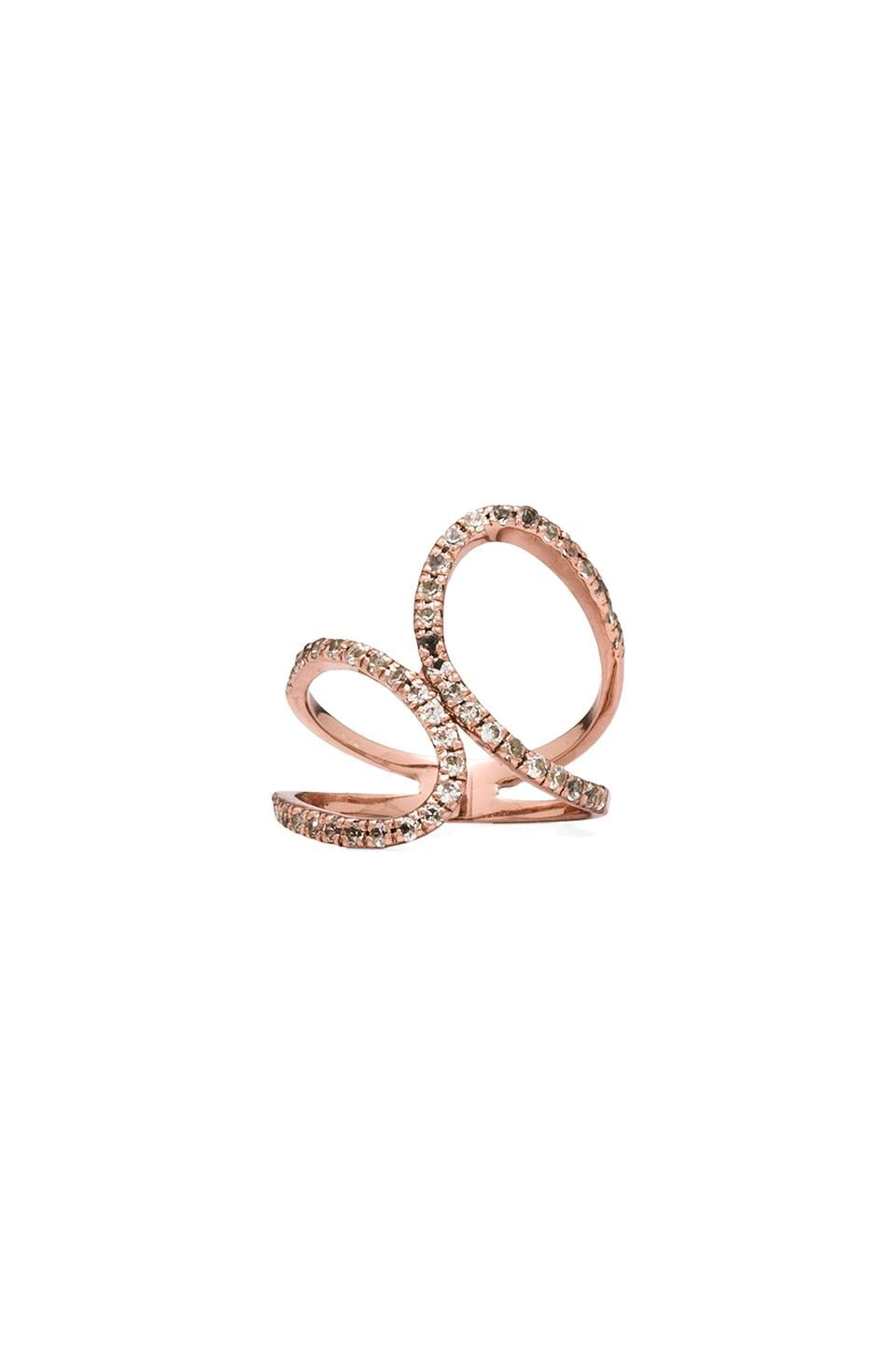 Alex Mika Infinity Ring in Rose Gold