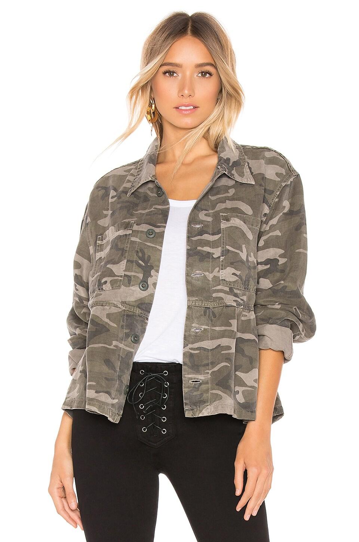 AMO Cropped Rosie Jacket in Warm Grey Camo