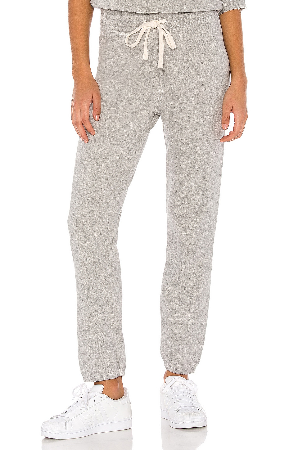 AMO Cropped Sweatpant in Heather Grey