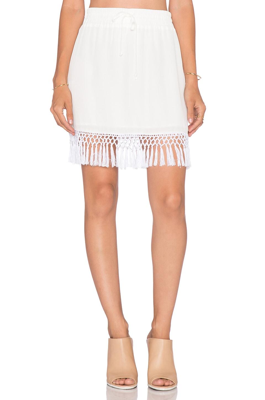 amour vert Chanel Skirt in White