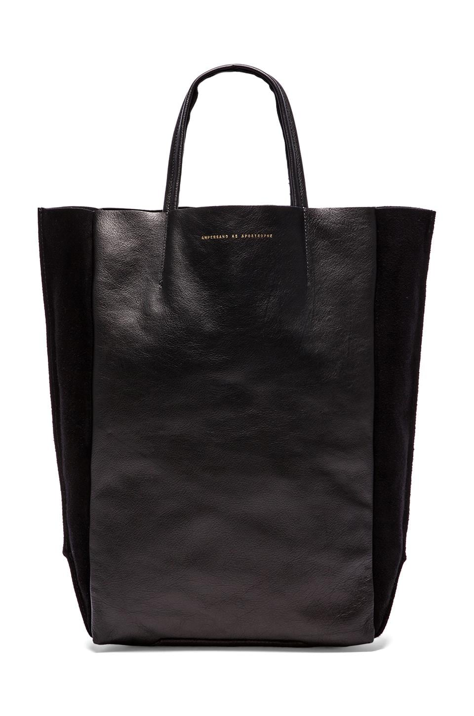 AMPERSAND AS APOSTROPHE Tall Tote Suede-Out in Black