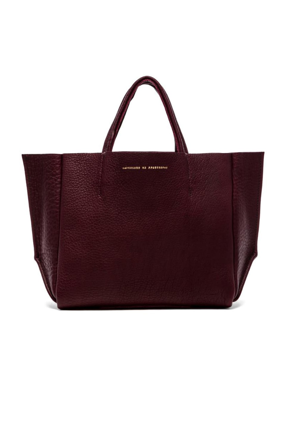 AMPERSAND AS APOSTROPHE Buffalo Half Tote in Oxblood