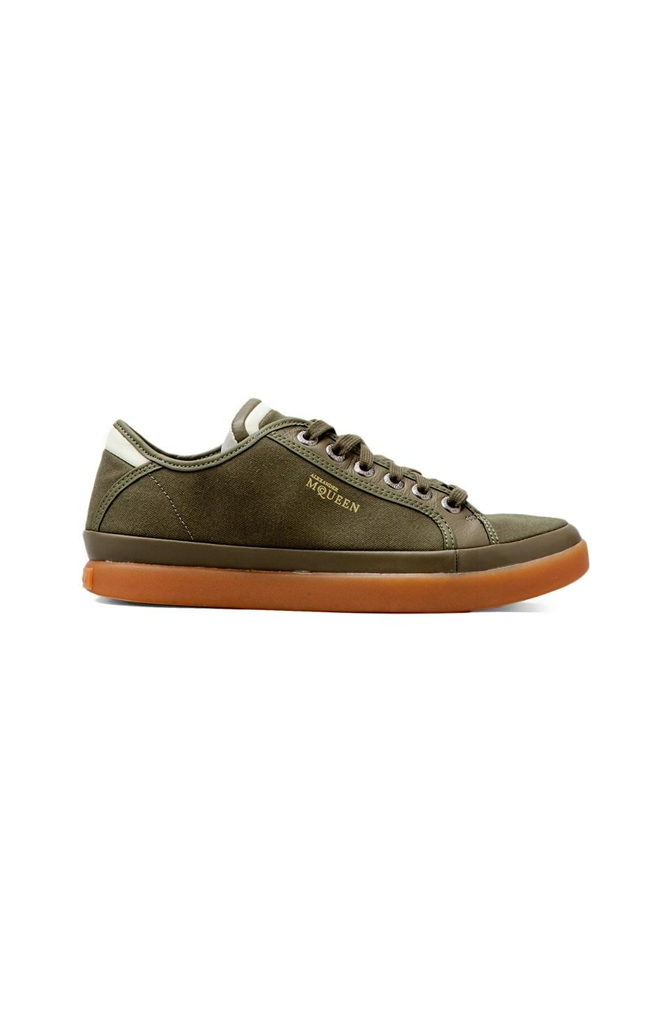 Alexander McQueen Puma Rabble Lo in Olive Night