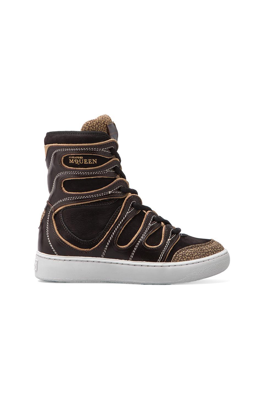 Alexander McQueen Puma Husska Sneaker in Black