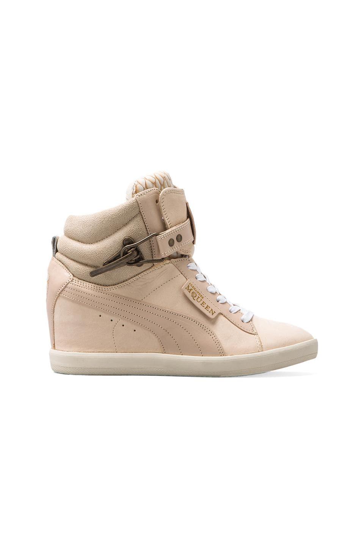 Alexander McQueen Puma Joustesse Mid Wedge Sneaker in Marshmallow