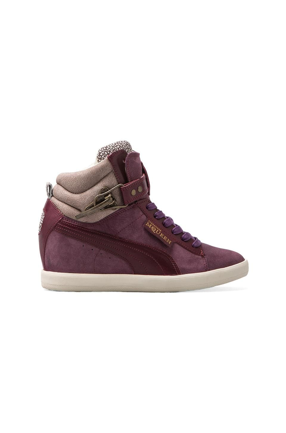 Alexander McQueen Puma Joustesse Mid Wedge Sneaker in Dark Grey
