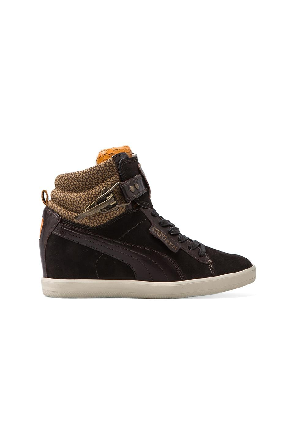 Alexander McQueen Puma Joustesse Mid Wedge Sneaker in Black