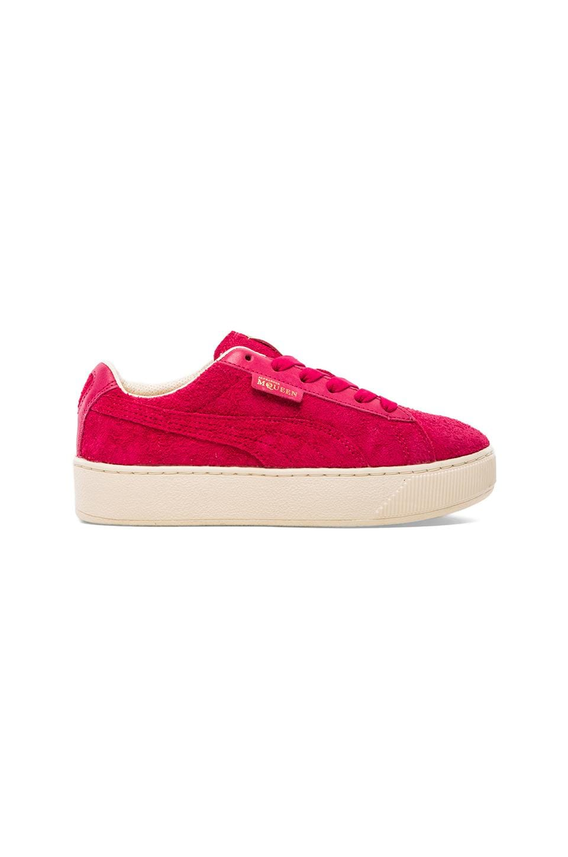 Alexander McQueen Puma Tabaka Sneaker in Rose Red