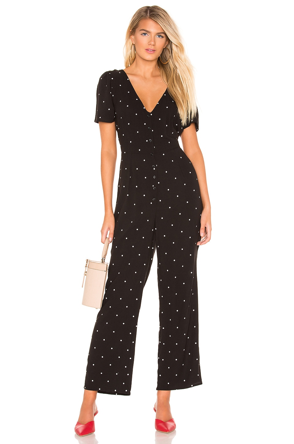 AMUSE SOCIETY On The Bright Side Jumpsuit in Black