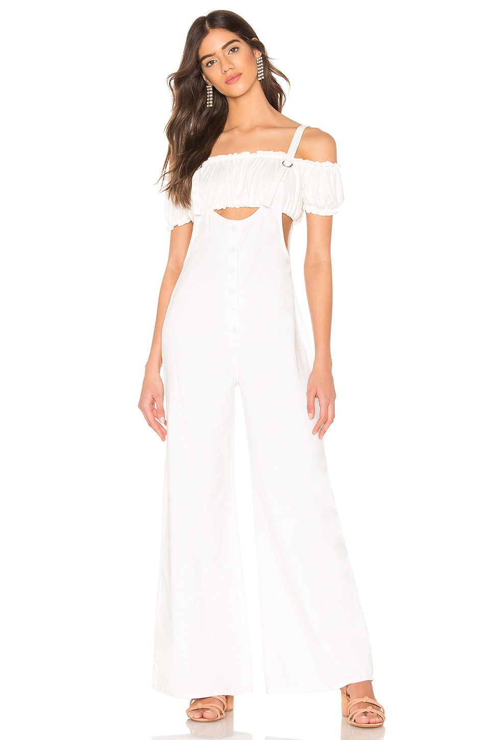 AMUSE SOCIETY Betina Jumpsuit in Off White