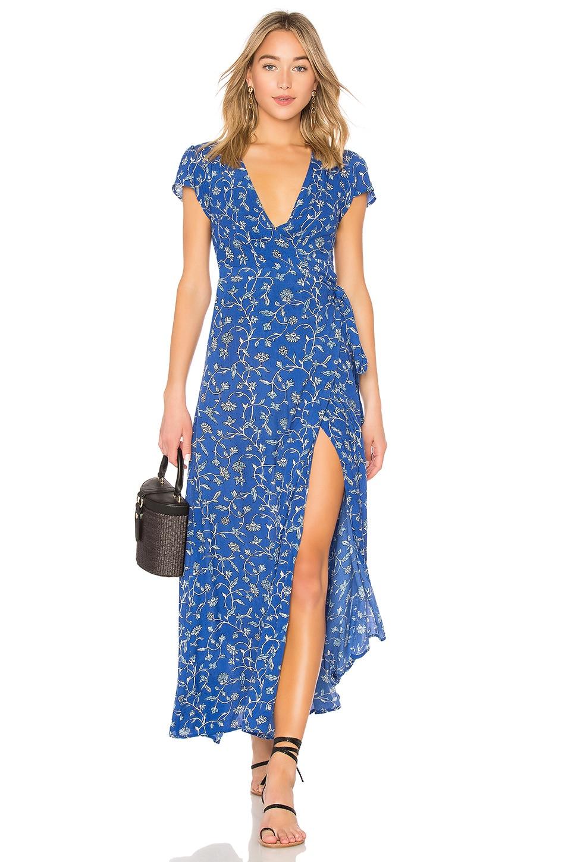 AMUSE SOCIETY Summer Safari Dress in Blue Coast