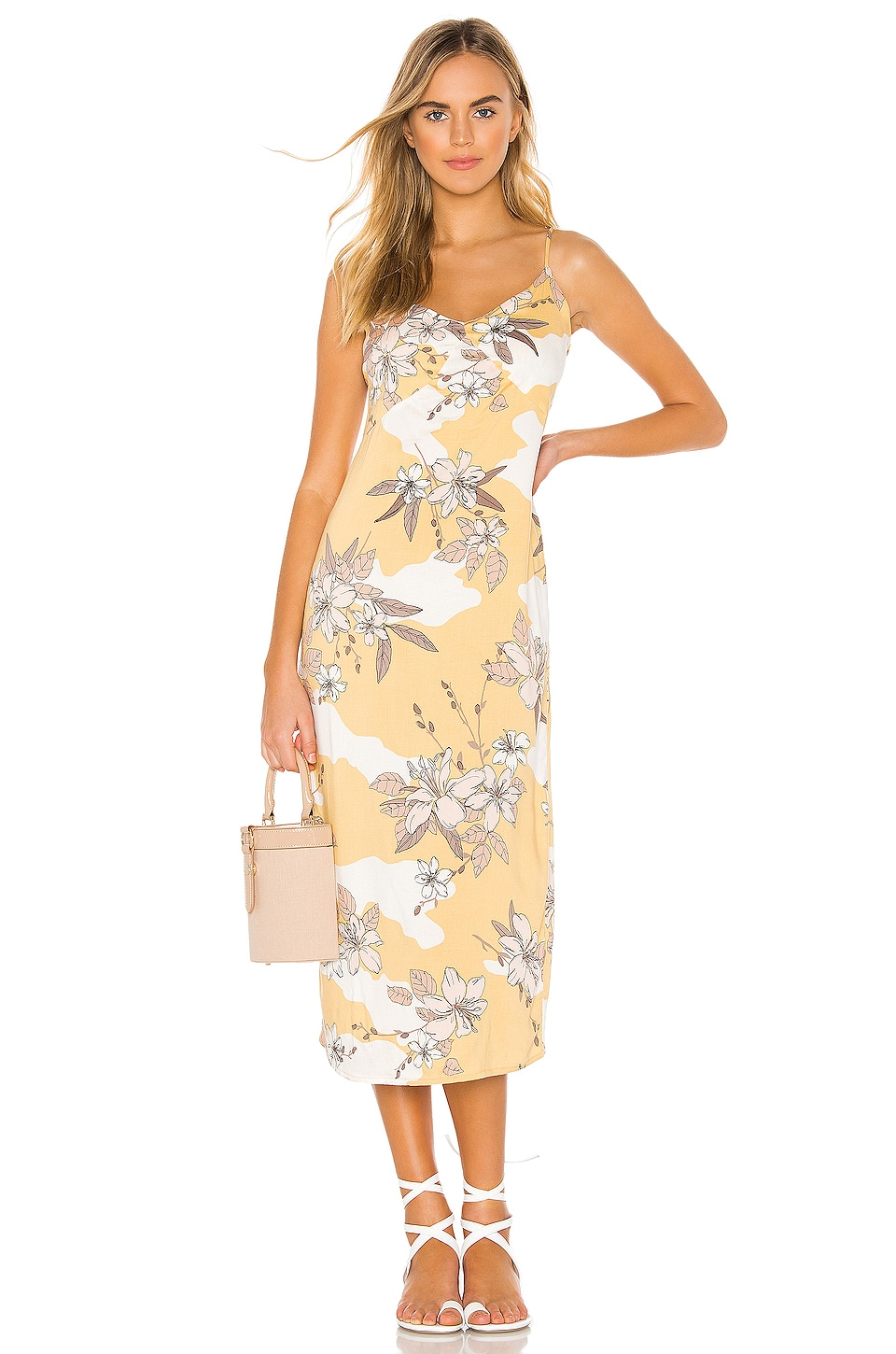 AMUSE SOCIETY Papaya Midi Dress in Ginger