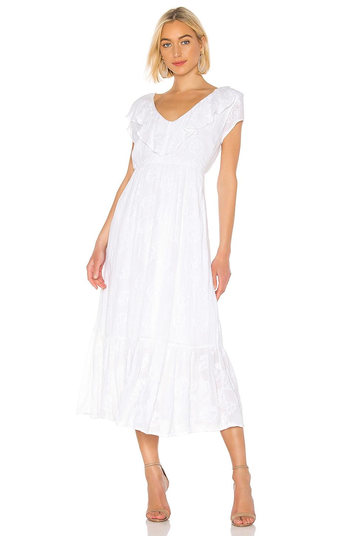 AMUSE SOCIETY Tropical Morning Maxi Dress in Casa Blanca
