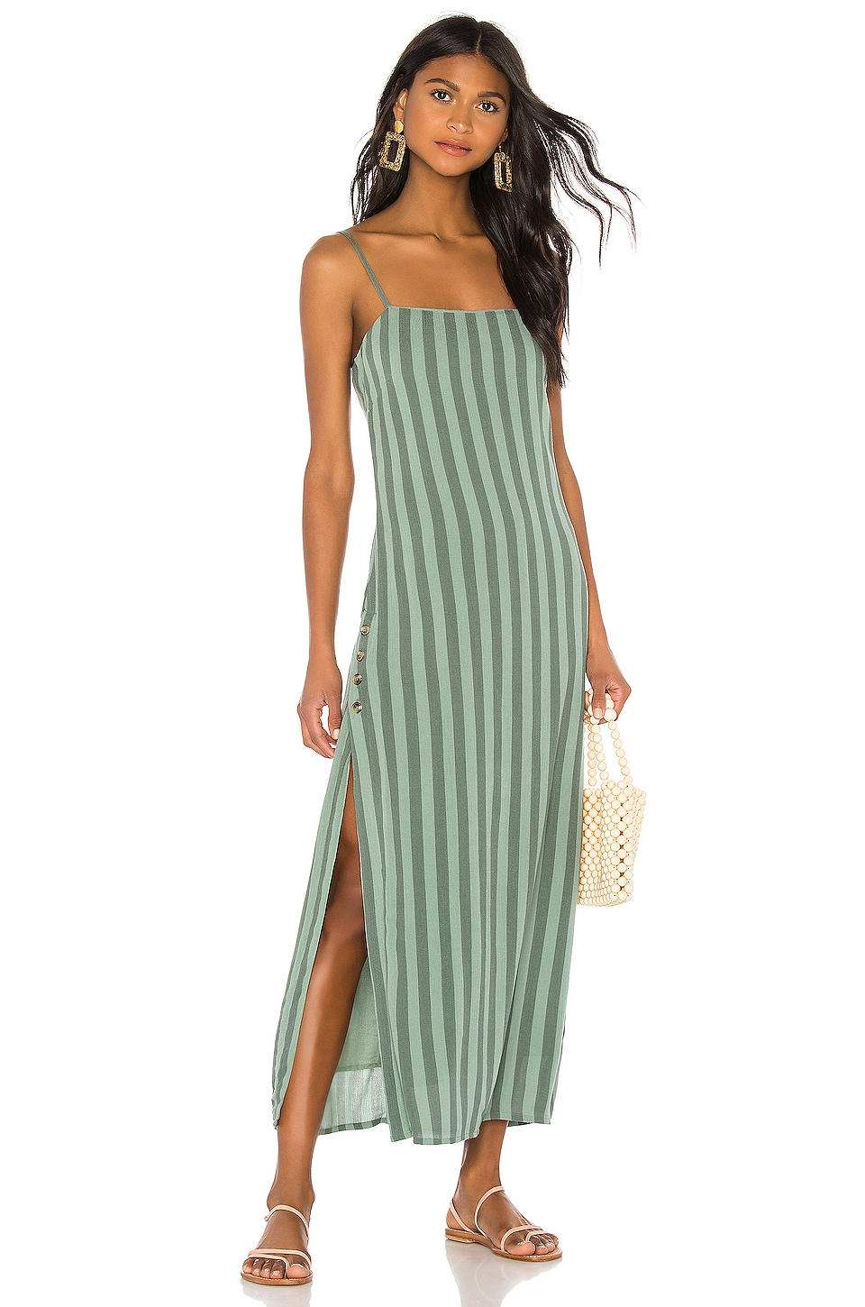 AMUSE SOCIETY Hidden Cove Maxi Dress in Sage