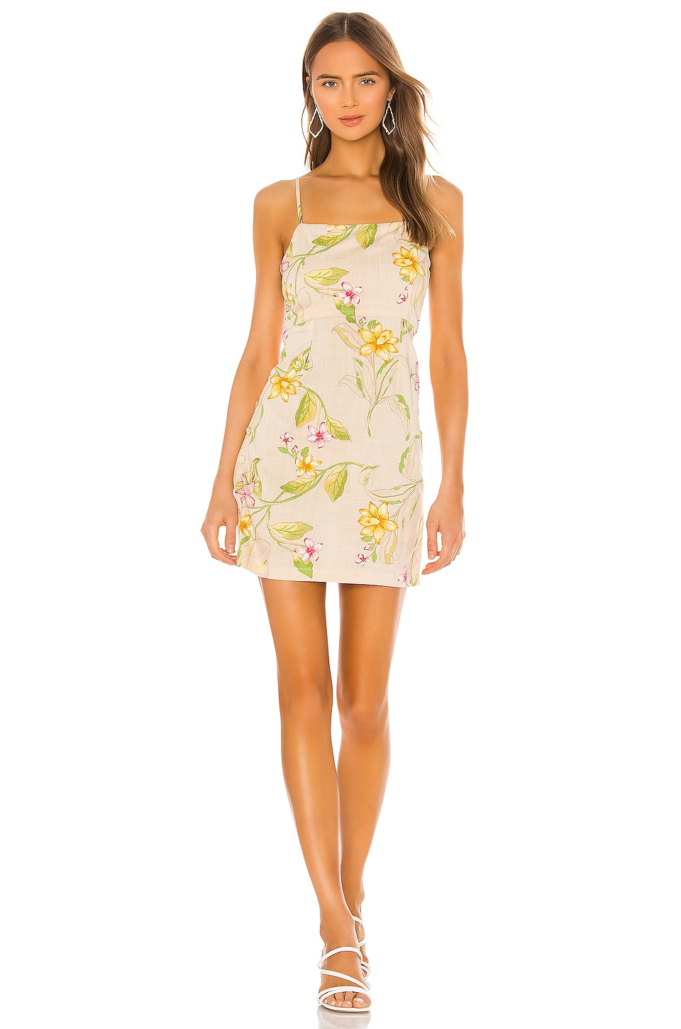 AMUSE SOCIETY Dulce Woven Dress in Off White