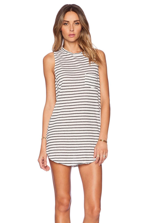 AMUSE SOCIETY Dress in Black Sands Stripe
