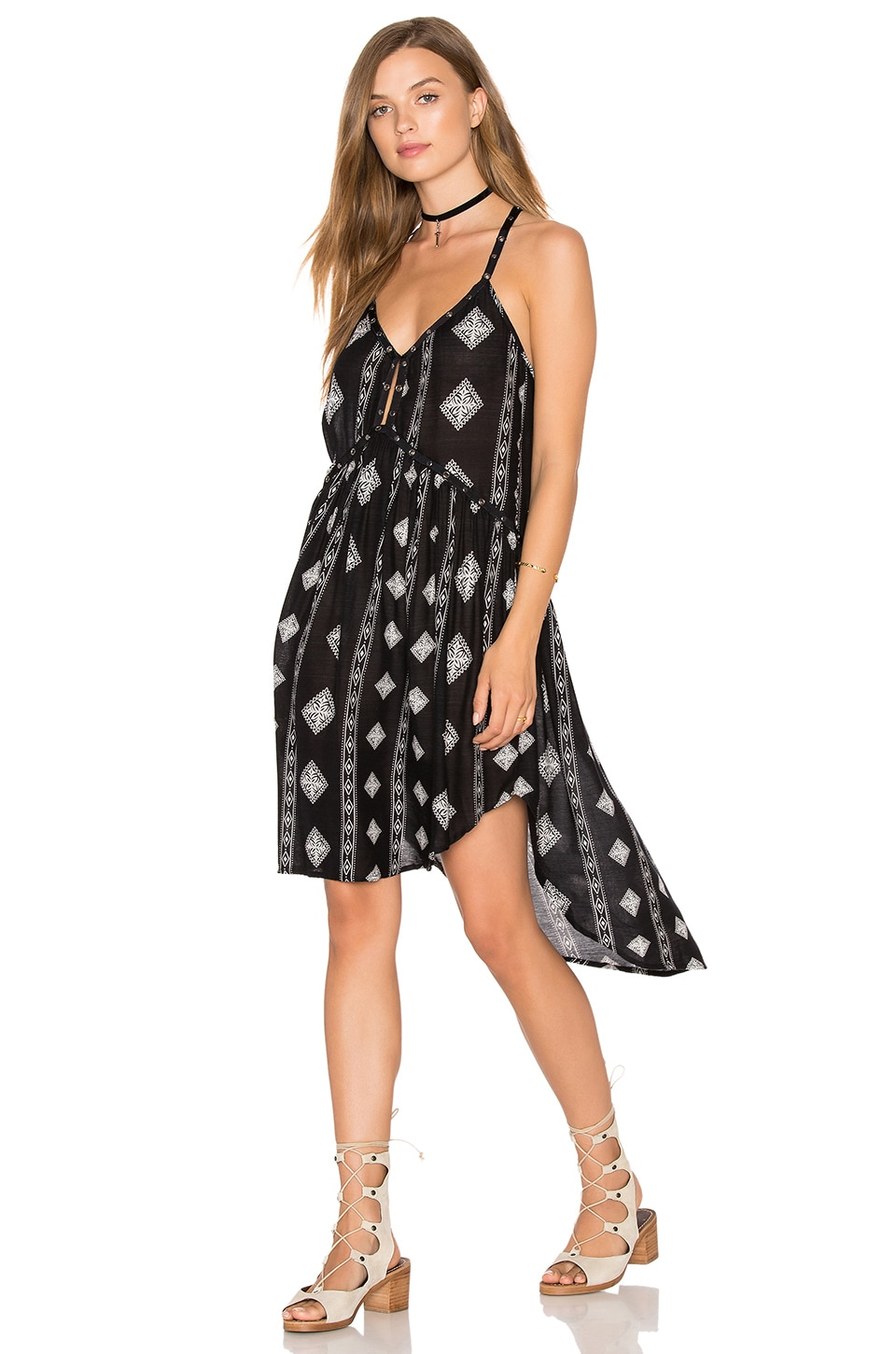 2cebdcb22756f AMUSE SOCIETY Ashby Dress in Black Sands