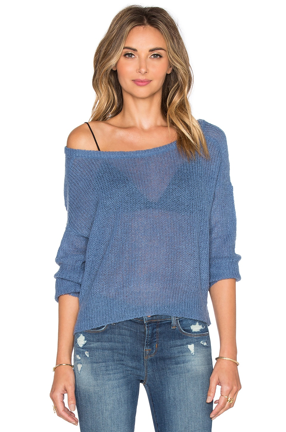 AMUSE SOCIETY Drifter Sweater in French Blue