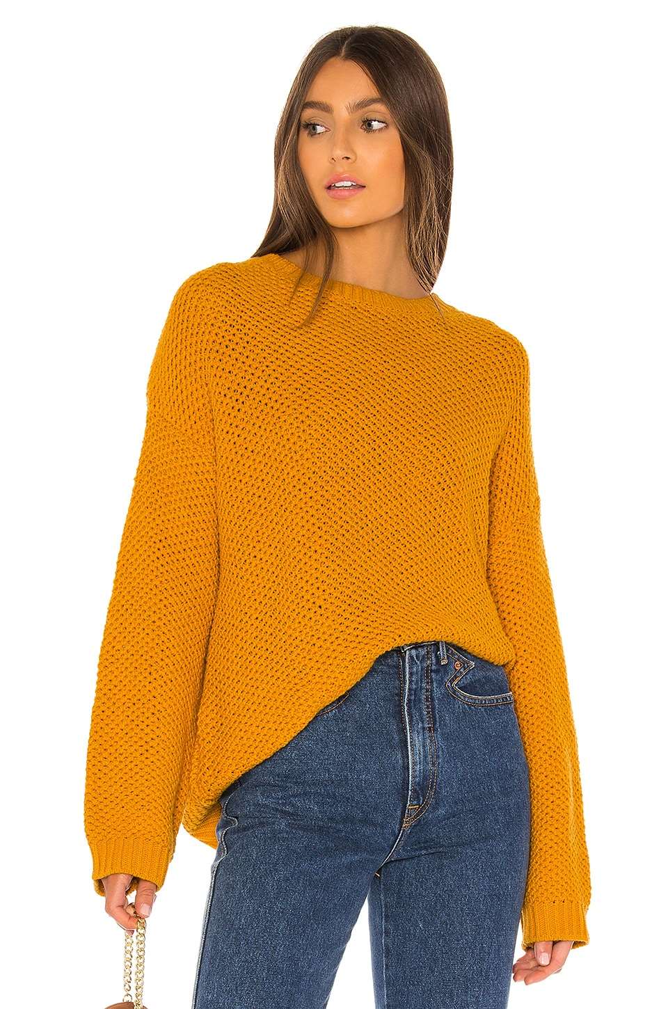 AMUSE SOCIETY Amalia Knit Sweater in Gold