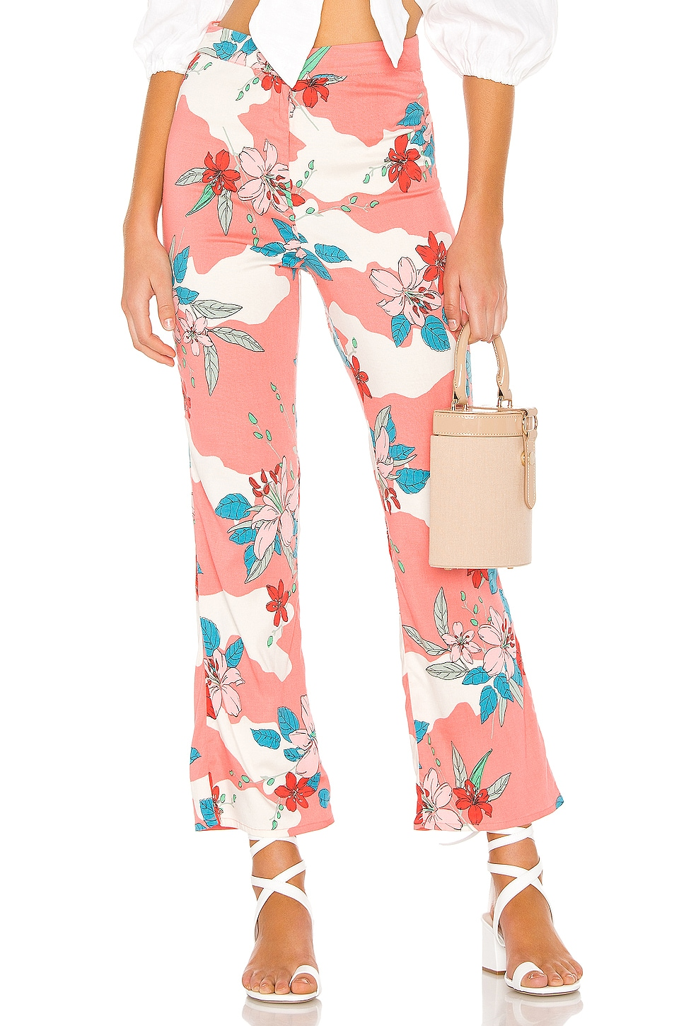 AMUSE SOCIETY Kori High Waisted Pant in Guava