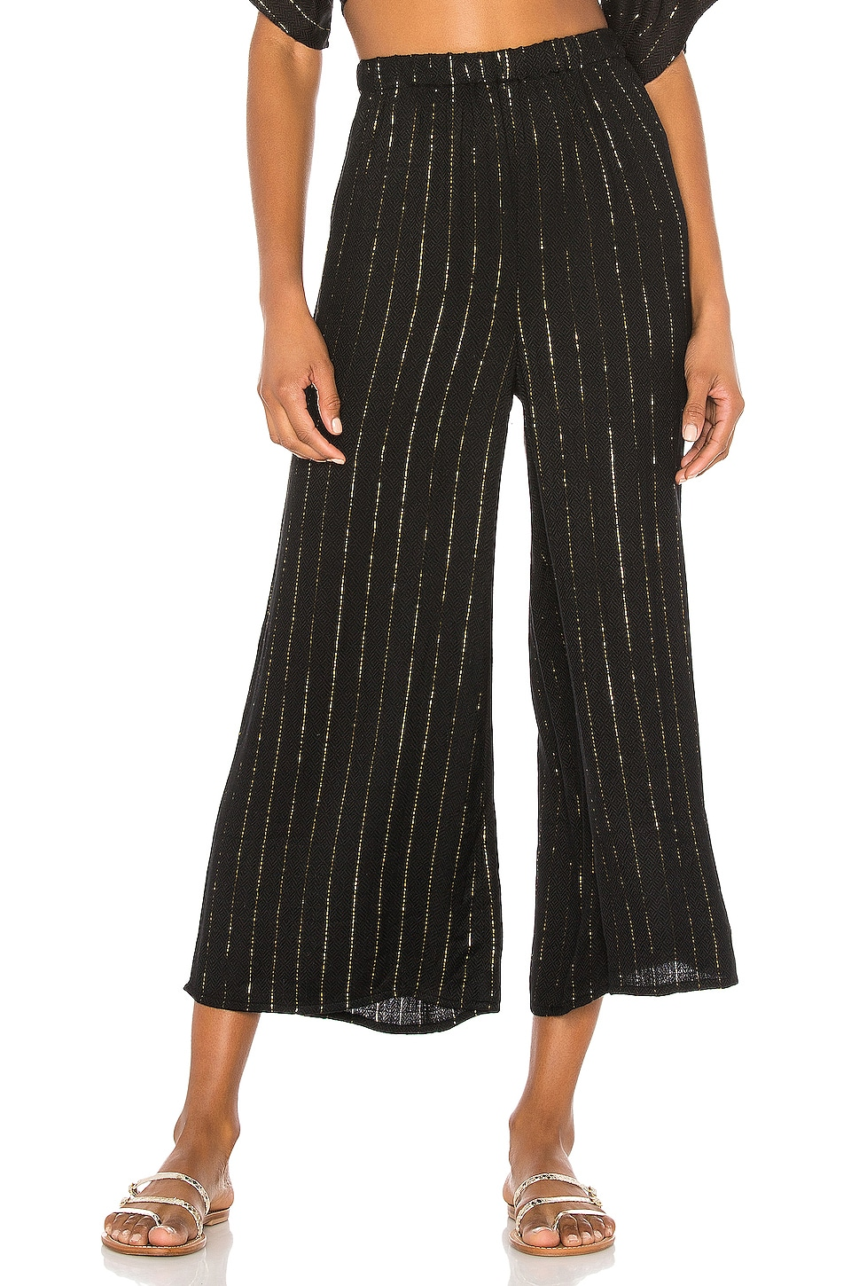 AMUSE SOCIETY Dusk Till Dawn Wide Leg Pant in Black