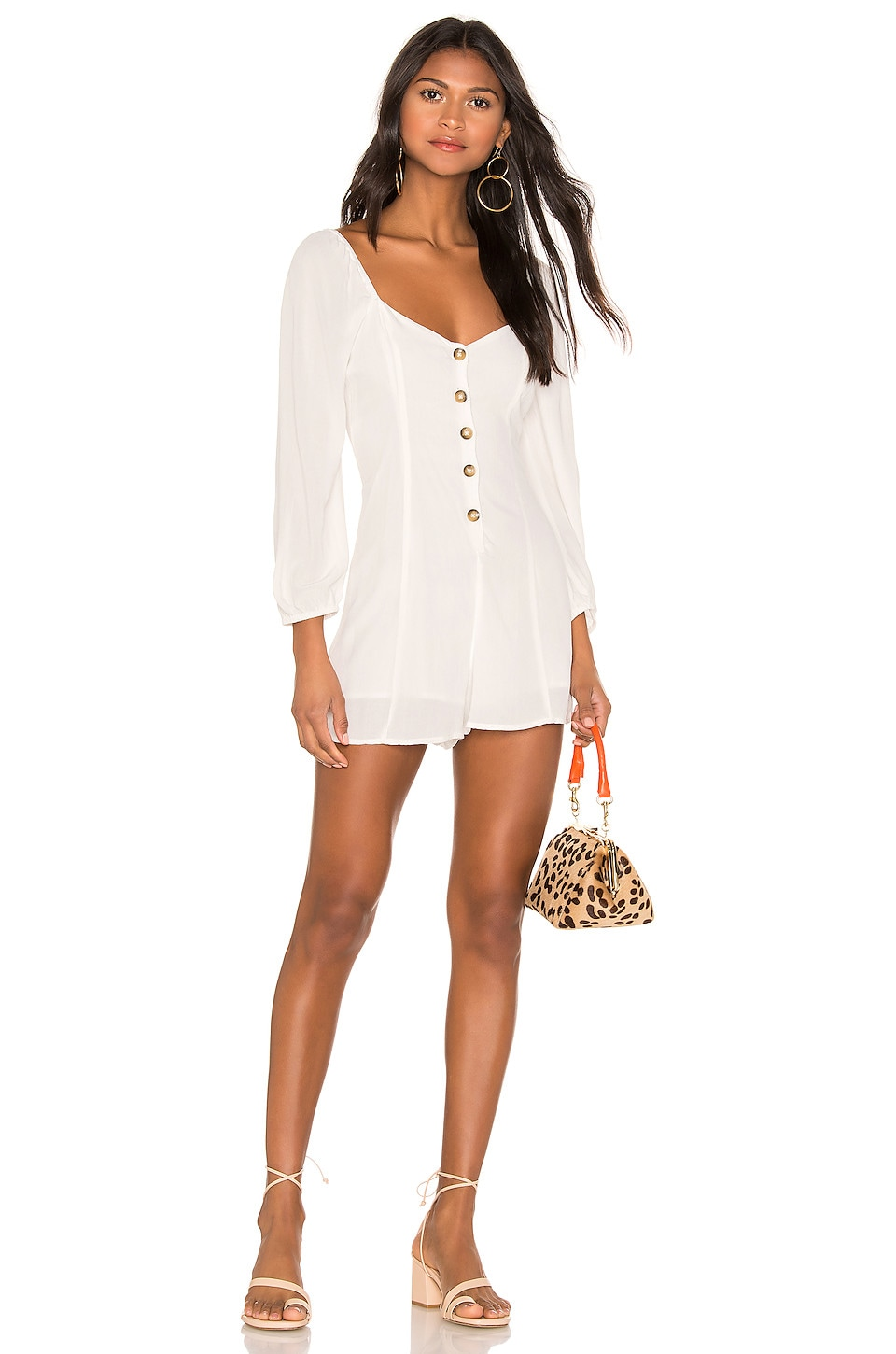 AMUSE SOCIETY Liliana Romper in Casa Blanca