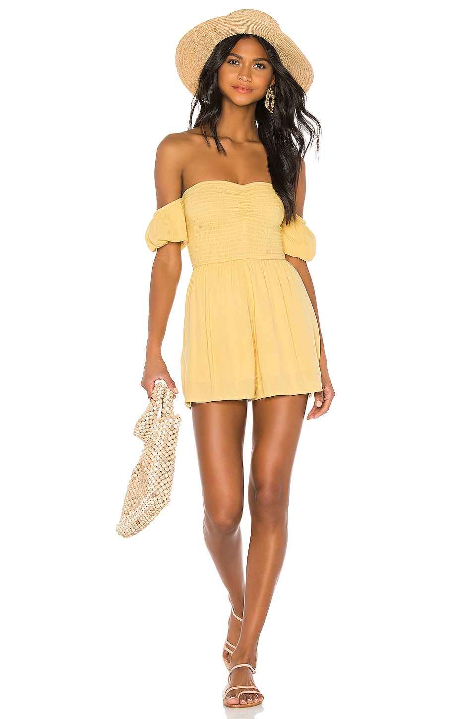 AMUSE SOCIETY Sunset Surf Mini Romper in Ginger