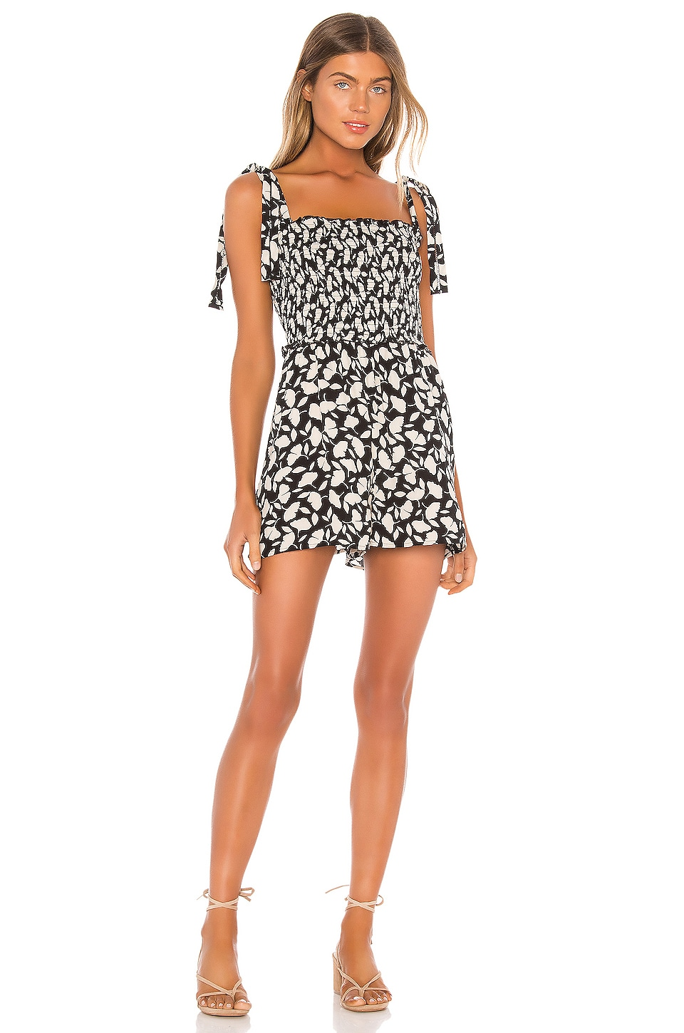 AMUSE SOCIETY Jungle Path Tank Romper in Black