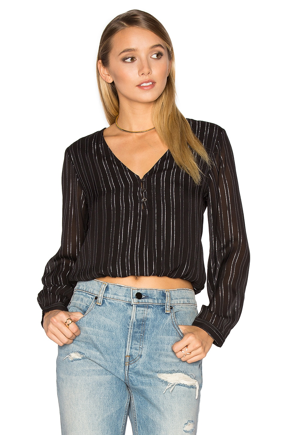 Moonlight Woven Top by AMUSE SOCIETY