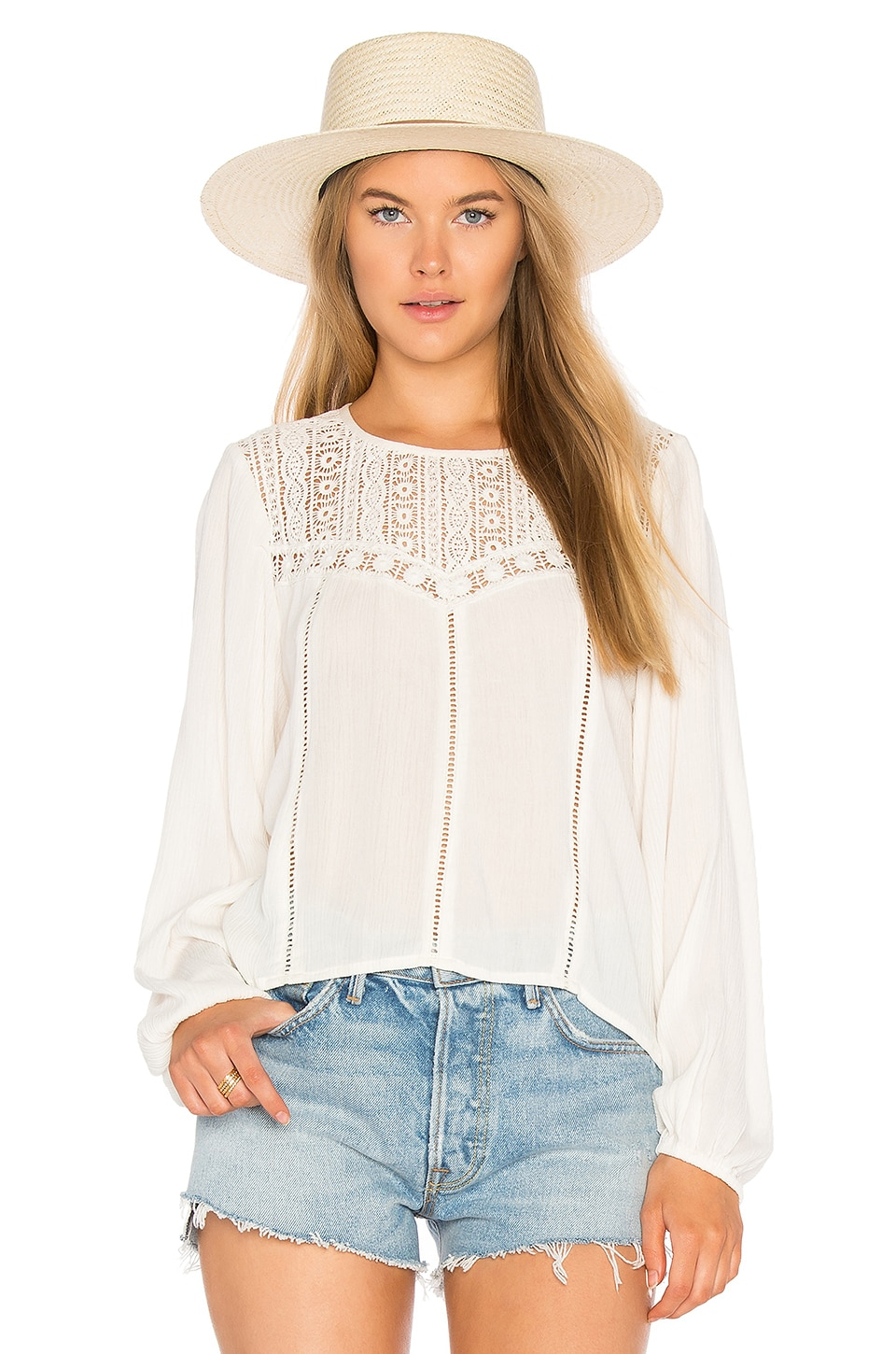 Sunset Rose Woven Top