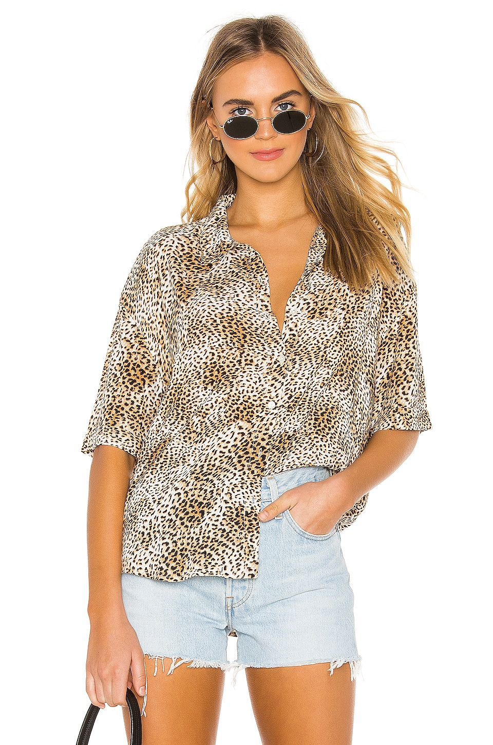 AMUSE SOCIETY Feline Woven Top en Natural