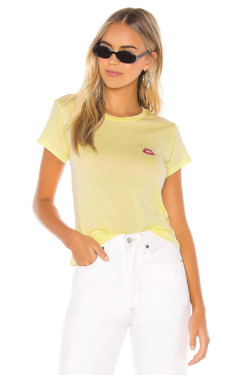 AMUSE SOCIETY Sil Vous Play Tee in Citron