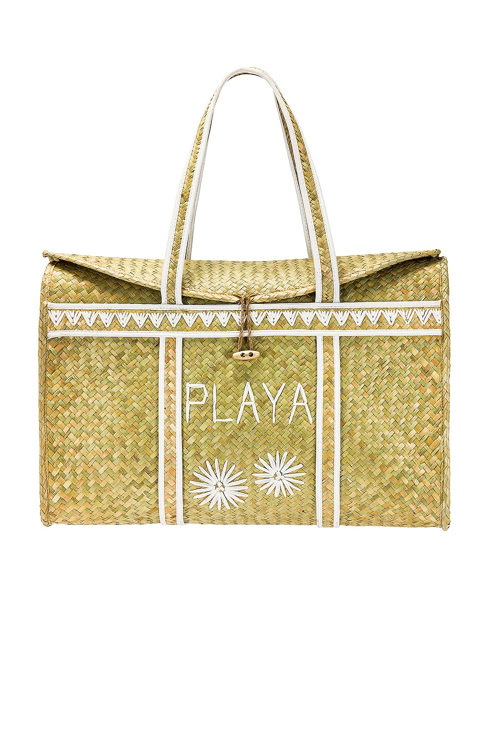 AMUSE SOCIETY Palm Woven Basket in Natural