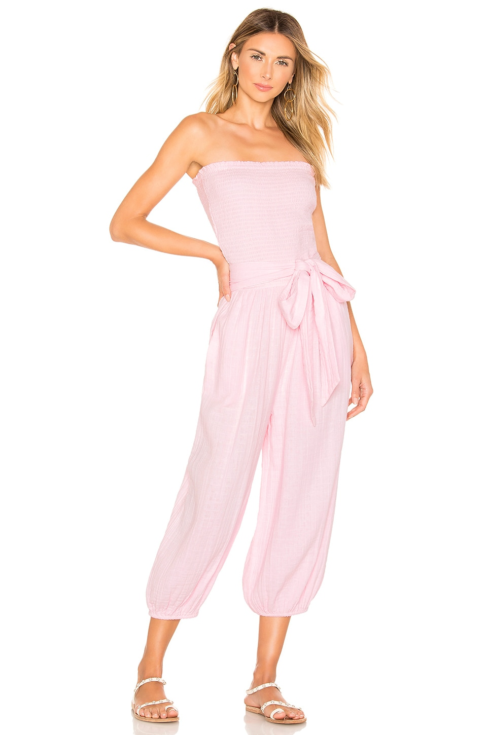 ANAAK Kai Smock Jumpsuit in Blossom Pink
