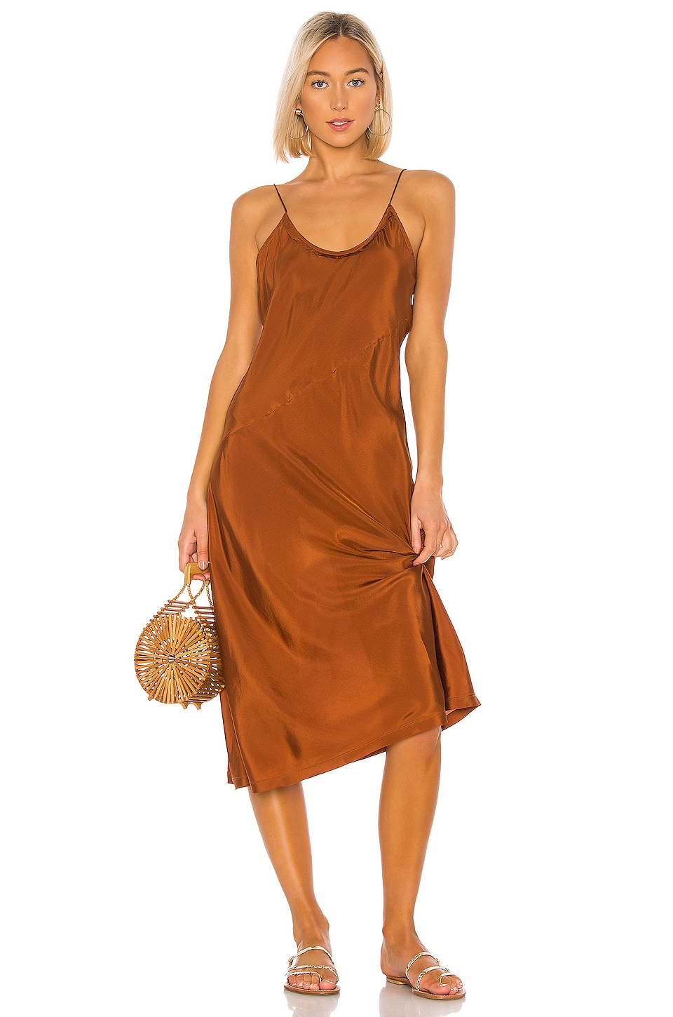 ANAAK Scarlette Slip Dress in Bronze