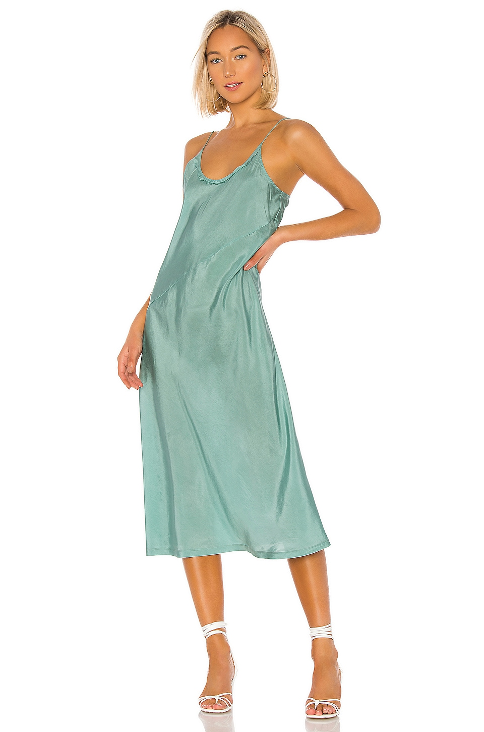 ANAAK Scarlette Slip Dress in Sage