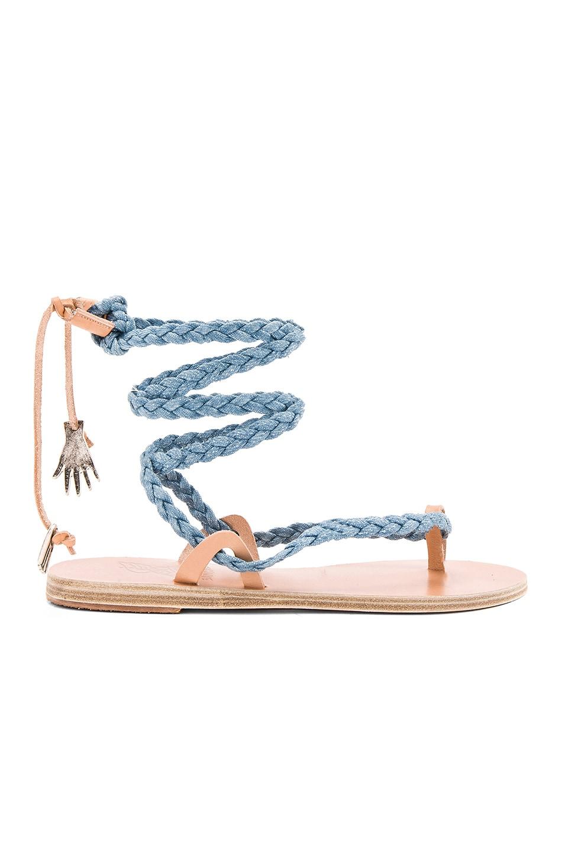 Ancient Greek Sandals Atropos Sandal in Light Denim & Natural